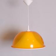 Lampa sufitowa, lata 70. pomarańczowa żółta tworzywo sztuczne (1)