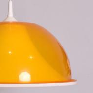Lampa sufitowa, lata 70. pomarańczowa żółta tworzywo sztuczne (4)