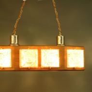 lampa sufitowa tekowa . b
