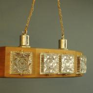 lampa sufitowa tekowa . bx