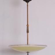 lampa wielki szklany talerz lata 30  (1)