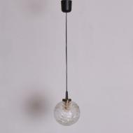 lampa wisząca czarny przewód szklana kulka (1)
