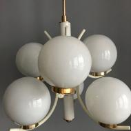 Lampa;żyrandol;SPUTNIK;lata 60. 70.;PRL;mid-century;NRD