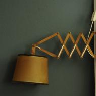 lampka kinkiet nozycwy niemiecki drewniany