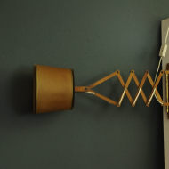 lampka kinkiet nozycwy niemiecki drewniany c