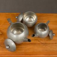 lavoraz peltro a mano tea set 1919-4