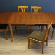 lubke stol tekowy z krzeslami komplet  b