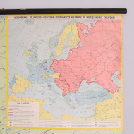 Mapa szkolna Europa, Polska, lata 70 (3)