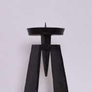 Metalowy świecznik brutalistyczny (2)
