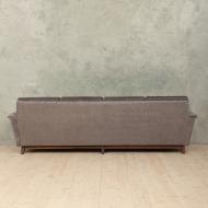 Mid-century sofa in silver Italian velvet-4