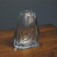 niebieski szklany geometryczny wazon  6