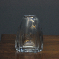 niebieski szklany geometryczny wazon  6b