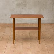 Organic shape side table with a shelf-2