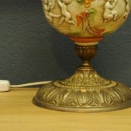 oryginalna lampa art deco porcelana mosiadz szklo cv