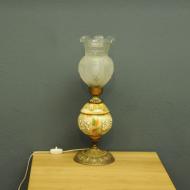 oryginalna lampa art deco porcelana mosiadz szklo e4