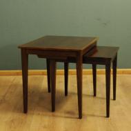 orzechowe podwojne stoliki