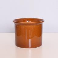 Osłonka na doniczkę, Sondgen Keramik, Niemcy, lata 70. brązowa brąz (1)