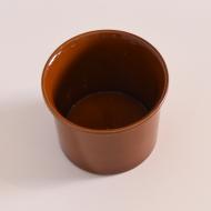 Osłonka na doniczkę, Sondgen Keramik, Niemcy, lata 70. brązowa brąz (4)