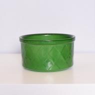 Osłonka na doniczkę, Sondgen Keramik, Niemcy, lata 70. zielona ona (2)
