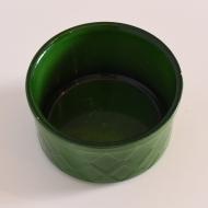Osłonka na doniczkę, Sondgen Keramik, Niemcy, lata 70. zielona ona (4)