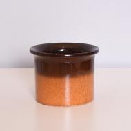 Osłonka na doniczkę, lata 70. pomarańcz brąz (1)