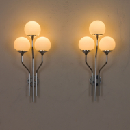 Pair of chrome plated wall lights by Goffredo Reggiani 2076-8
