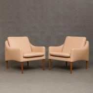 Pair of Hans Olsen lounge chairs for CS Mobler-1
