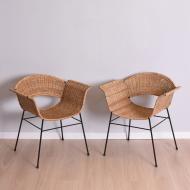 Para foteli rattanowych, lata 60 (1)