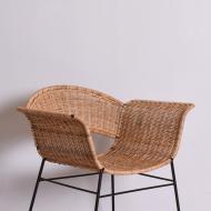 Para foteli rattanowych, lata 60 (8)