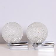 Para kinkietów, Niemcy, lata 70. srebrne szklane kule (2)