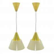 para lamp sufitowych plexi żółte