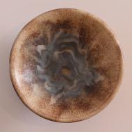 patera beżowa brązowa niebieska ceramiczna (4)