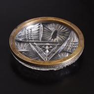patera kryształowa metalowy brzeg  (1)