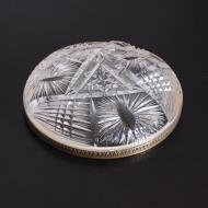 patera kryształowa metalowy brzeg  (5)