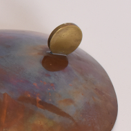 patera miedziana mosiężna piękna okrągła (5)