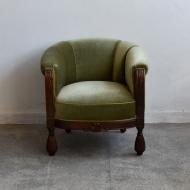 piękny fotel zielony pocz XX wieku stary  (1)