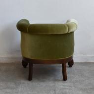 piękny fotel zielony pocz XX wieku stary  (7)