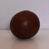 piłka lekarska 1 kg skórzana brązowa polska (1)