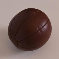 piłka lekarska 1 kg skórzana brązowa polska (6)
