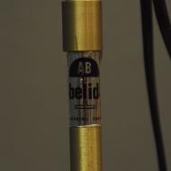 podwójna lampa podłogowa złota belid asd
