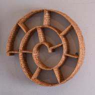 półka wyplatana ślimak na stelarzu metalowym (1)