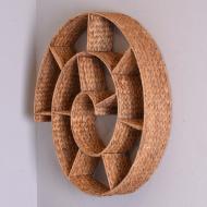 półka wyplatana ślimak na stelarzu metalowym (2)