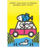 polski plakat lustyk orbis
