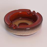popielnica ceramiczna bezowo czerwona (5)