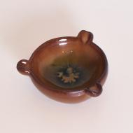 popielnica ceramiczna polska zielono brązowa (1)