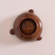 popielnica ceramiczna polska zielono brązowa (4)