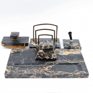 Portoro marble desk set_01