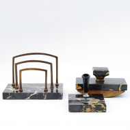Portoro marble desk set_06