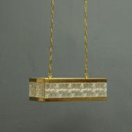 prostokątny kryształowy żyrandol
