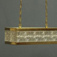 prostokątny kryształowy żyrandol  by